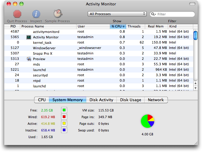 Troubleshooting with Activity Monitor